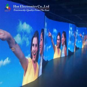 2021 New Style Curved Led Display Outdoor - Indoor Curved LED Display , Rental P2.6 LED Programmable Sign Display Board – Hot
