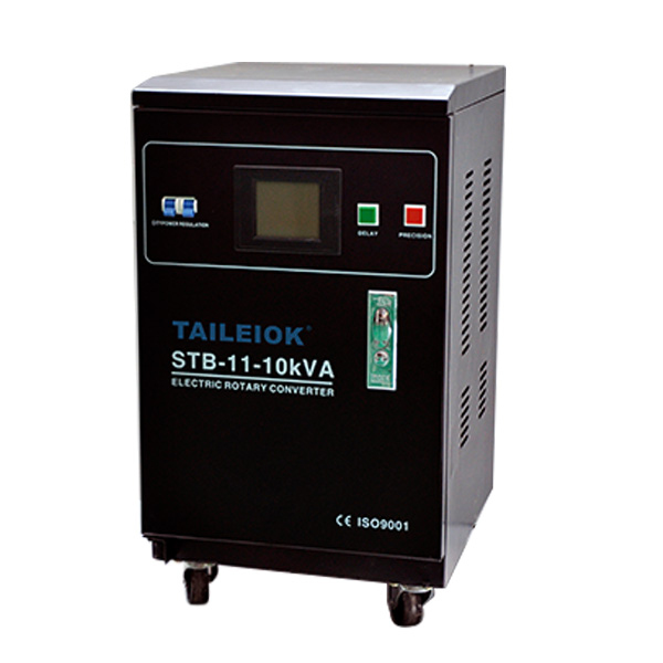 China Cheap price Automatic Voltage Regulator Circuit - Servo SVC-5KVA/8KVA/10KVA/15KVA/20KVA/30KVA Single Phase Virtical Type Voltage Stabilizer LCD Meter – Tailei Electric
