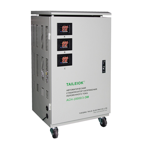 Factory supplied Century Automatic Voltage Stabilizer - SVC Digital Display (Three-phase) Automatic Voltage Stabilizer – Tailei Electric detail pictures