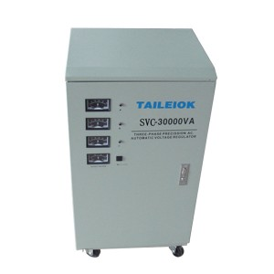China wholesale 1.5 Kva Voltage Stabilizer - SVC Analog Meter  (Three-phase) Automatic Voltage Stabilizer – Tailei Electric