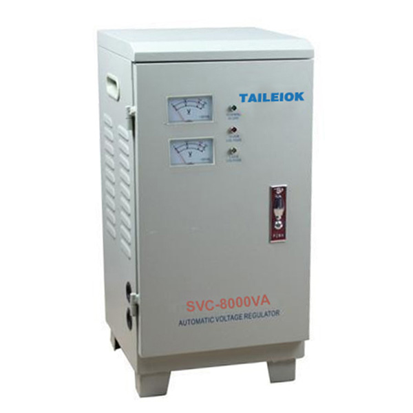 Best Price for Ac Stabilizer 130v - SVC-8KVA Single Phase Servo Type Voltage Stabilizer LCD Meter – Tailei Electric