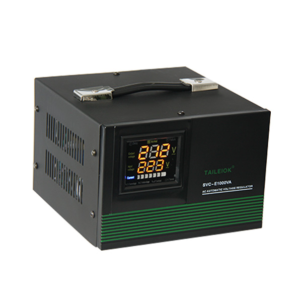 Discount wholesale Automatic Servo Voltage Stabilizer - SVC-E Automatic Voltage Stabilizer LED meter display – Tailei Electric