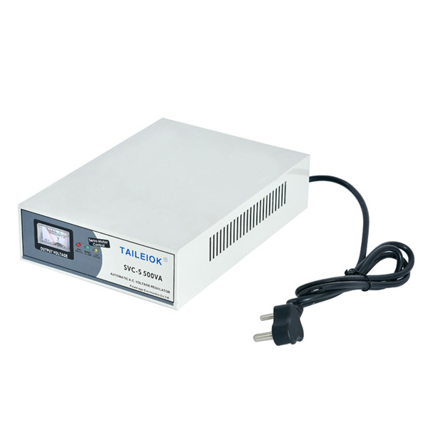 Factory Cheap Automatic Voltage Regulator In Power System - SVC-S Super-Thin Type High Accuracy Full-Automatic AC Voltage Stabilizer – Tailei Electric