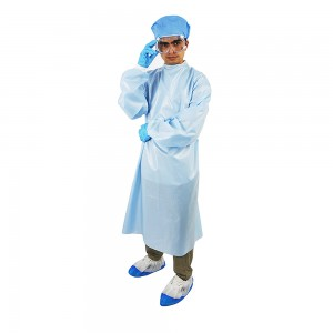 blue High Quality medical disposable isolation gown Supplier