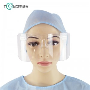 Tongee Plastic Protective Face Shield Anti Fog Movable Dining Clear Face Shield