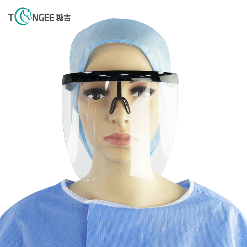 Tongee Clear Anti Fog Plastic Face Shield Dispo...