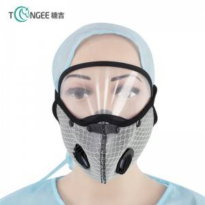 Tongee Mesh breathable fabric + anti-fog lens Face Shiled