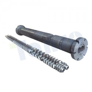 China New Product China 45/90 Conical Twin Screw and Barrel for PVC Pipe Extruder