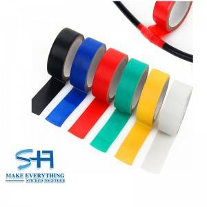 China Factory Colorful PVC Electrical Insulation Adhesive Tape