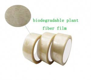 New arrival easy tear off green environmentally friendly biodegradable packing tape