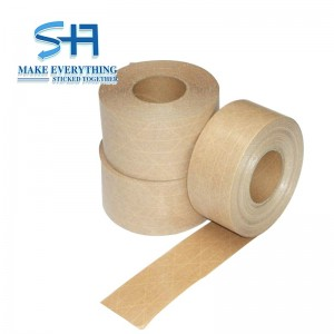 Custom water activated reinforced kraft paper tape