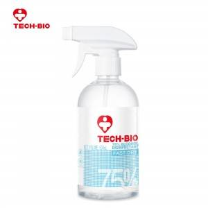 Wholesale 500ml 75% Alcohol Disinfectant TECH-BIO Factory