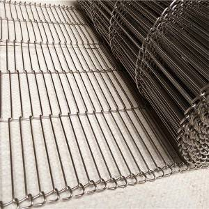 Z shaped stainless steel flat flex wire mesh conveyor belt