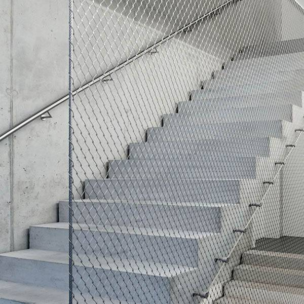 2019 Good Quality Mesh Infill Panels - Balustrde and railing protection stainless steel wire rope mesh net – Gepair