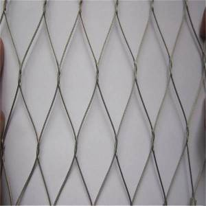 Flexible stainless steel cable woven mesh (Inter-woven type)