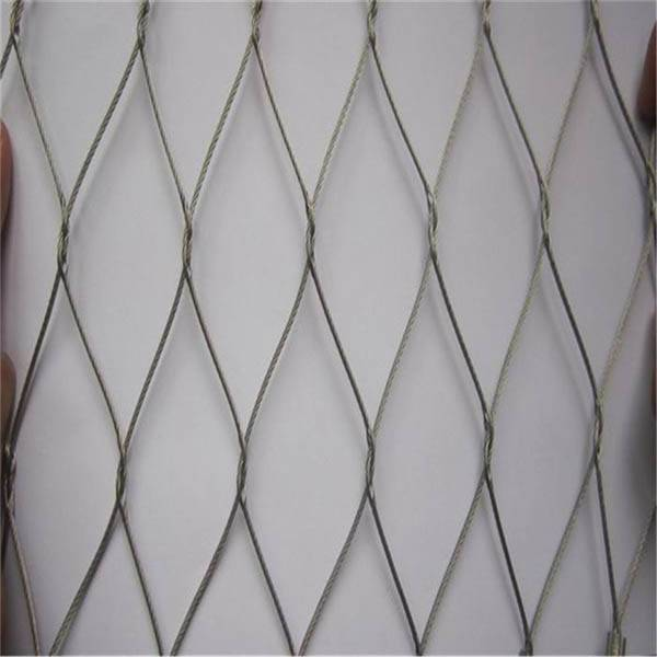100% Original Stainless Steel Rope Mesh Netting - Flexible stainless steel cable woven mesh (Inter-woven type) – Gepair