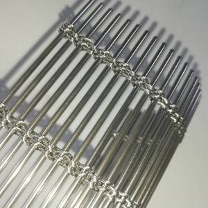 Stainless steel cable rod woven mesh