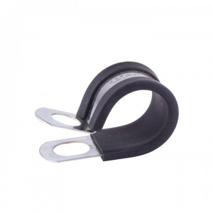 Factory directly Two Hole Stainless Steel Clamp - Rubber Lined P Clip – TheOne