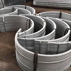 Hot Dip Galvanized Steel Pipe - Precision Process on Steel-Bending n' Punching hole – Rainbow