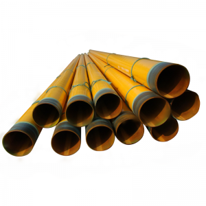 Powder coating pipe for water irrigation and fire fighting