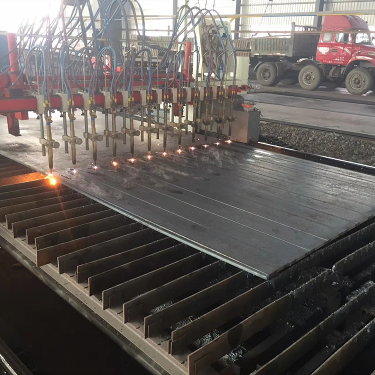 Precision Process on Steel-Plasma CNC Cutting steel plate