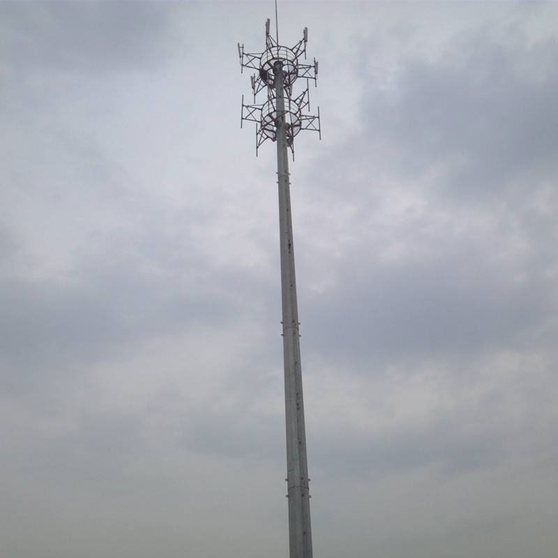 3 Leg Telecom Tower - dip-galvanized Steel Lattice Tower – Rainbow
