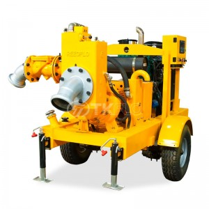 Mobile emergency vehicle  Diesel engine Drive Dry Self Priming water Pump for flood