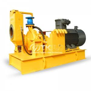 SPH series dry self priming pump drive by electrical motor