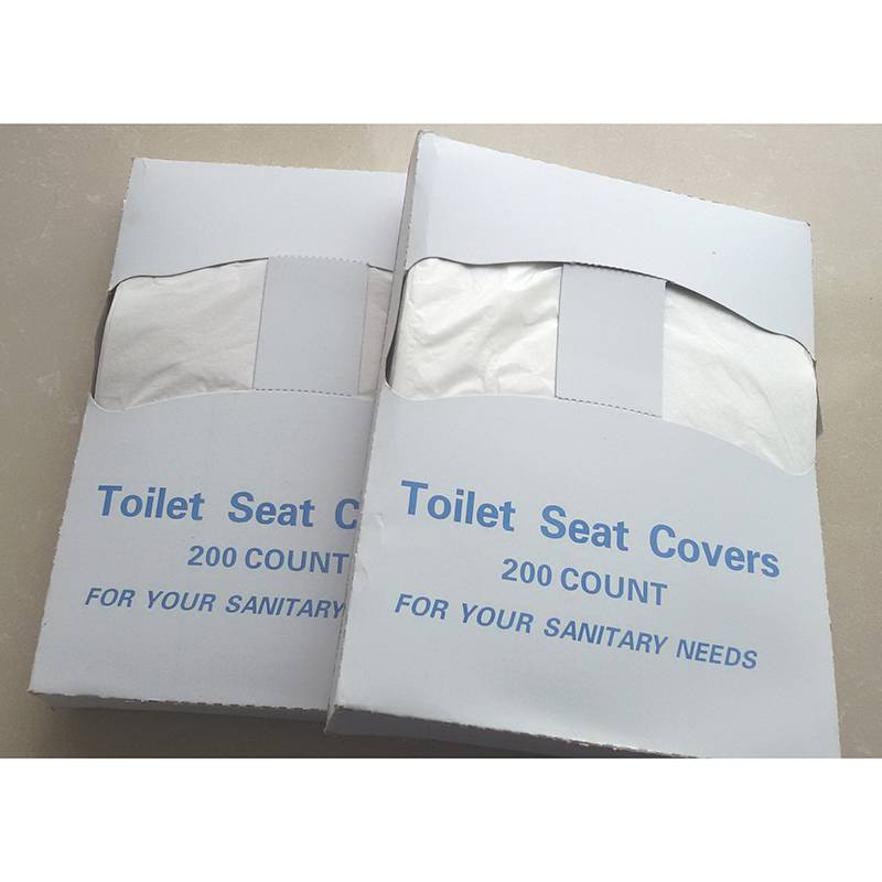 Sanitary use 1/4 fold Paper toilet seat cover