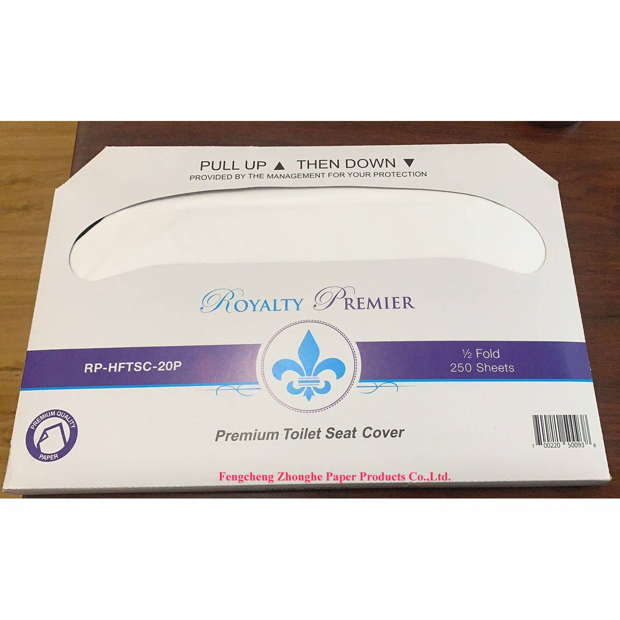 Hygienic safety toilet seat cover paper