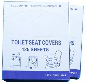 1/4 Fold Sanitary Toilet Paper Seat Cover,125pcs/box