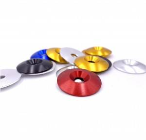 34*8*4.5mm COLOR ANODIZED WASHER ALUMINUM COUNTERSUNK WASHER FOR GO KART