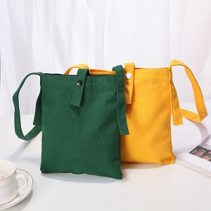 Japan Latest Trend of 12oz Cotton Canvas Tote Bag Bright Fancy Shoulder Bag