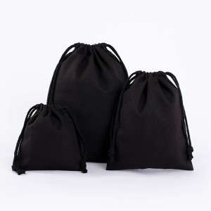 High quality Pure Linen Drawstring Bag for Grocery and Shopping