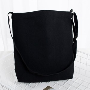100% Pure Cotton Canvas Tote Bag with Long Adjustbale Shoulder