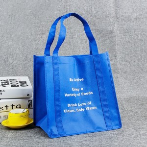 Recycle Non Woven PP Shopping Bag with Bright Silkscreen Logo