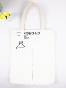 Natural Organic Cotton Canvas Bag for Food & Beverage