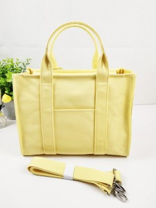 Exquisite Luxury Vintage Light Color Cotton Canvas Handbag