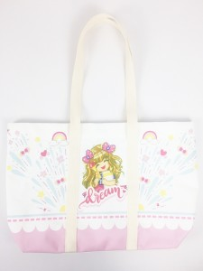 Vivid Digital Printed Kawaii Cute Girls Cotton Canvas Tote Bag
