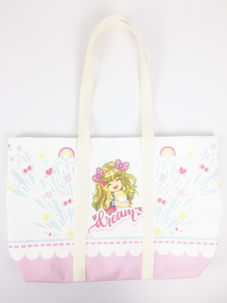 Vivid Digital Printed Kawaii Cute Girls Cotton Canvas Tote Bag Featured Image