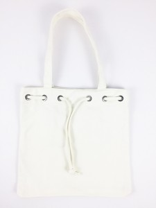Heavy Duty Cotton Canvas Tote Bags with Eyelet Loops Drawstring