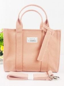 Brand Style Three Way Using Ladies Fashion Casual Cotton Canvas Handbag Tote Bag
