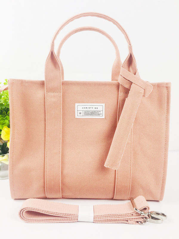 Brand Style Three Way Using Ladies Fashion Casual Cotton Canvas Handbag Tote Bag Featured Image
