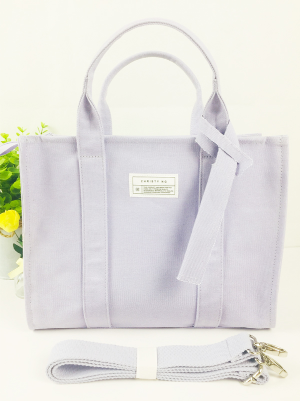 Vintage Lilac Cotton Canvas Tote Bag Fashion Ladies Handbag Featured Image