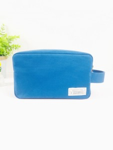 Elegant Fashion Ladies Cosmetic Pouch Cotton Canvas Make Up Bag