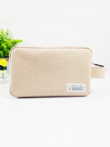 Everyday Use Fashion Ladies Cotton Canvas Pouch Zippered Bag