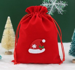 Drawstring Christmas Gift Bag for Candy, Chocolate, Apple Recyclable Eco Bag
