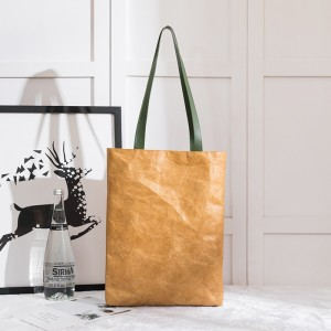 Dupont Tyvek Tote Shopper Bag With Vegan Leather Handle, Tote Bag