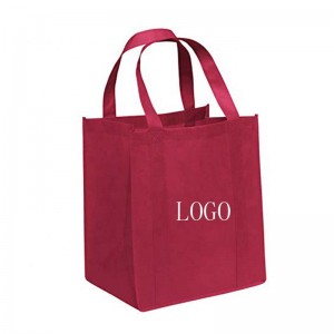 Best prices cheap price red printing non woven bag with nylon woven tote