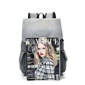 Chinese wholesale Printed Tote Bag Suppliers - Fancy USB Design Women Canvas Bag Student Laptop Backpack – Tongxing